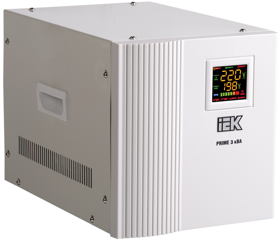 Стабилизатор напряжения Prime 3 кВА симисторный переносной, IEK