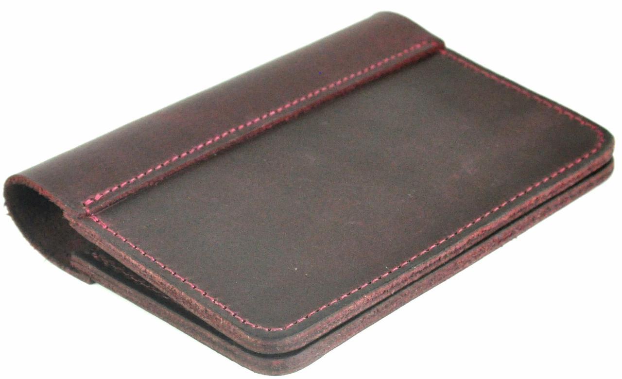 Кожаная обложка на паспорт Avitoo C502, коричневый