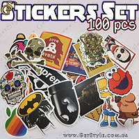 "Набор наклеек - ""Stickers Set"" - 100 шт."