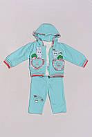 Трикотажный костюм для девочки 1-3 года, фото 1