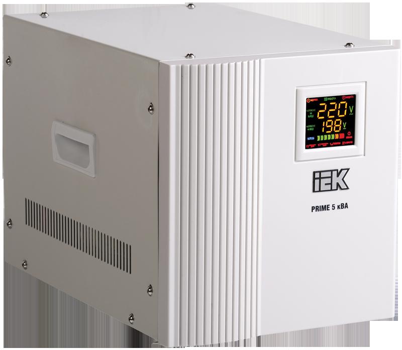 Стабилизатор напряжения Prime 5 кВА симисторный переносной, IEK