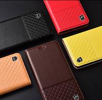 """Xiaomi Mi MIX 2 оригинальный кожаный чехол книжка из натуральной кожи магнитный противоударный """"QUILTED"""""""