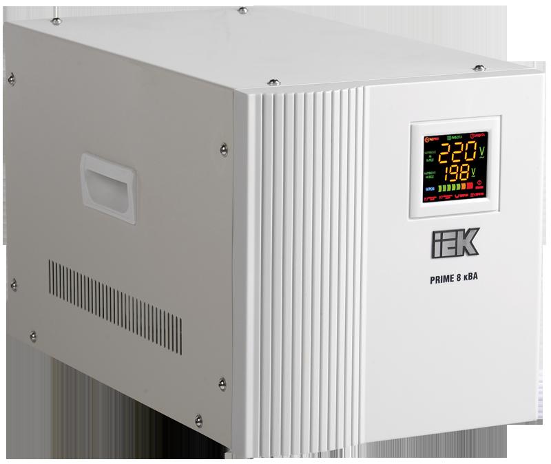 Стабилизатор напряжения Prime 8 кВА симисторный переносной, IEK