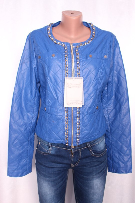 Жіноча шкіряна куртка з шкір-заступника