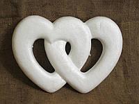 Двойное сердце из пенопласта 28*20см
