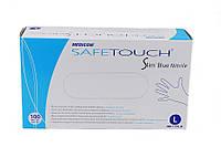 Перчатки нитриловые голубые L 100шт/уп (50пар) SafeTouch Slim Blue Nitrile