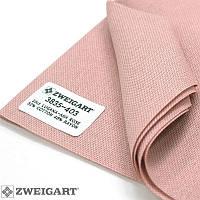 3835/403 Lugana-Aida 25 (ширина 140см) пепельно-розовый