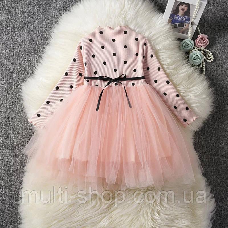 Платье для девочки Горошек праздничное