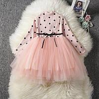 Платье для девочки Горошек праздничное, фото 1
