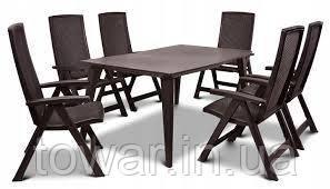 Набор садовой мебели   MONTREAL / LIMA 6 + 1 бронзовый