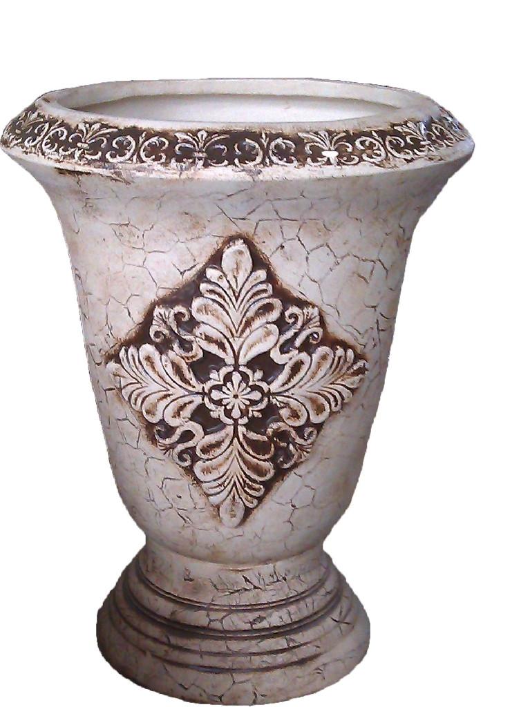 """Велика декоративна ваза для квітів """"Синор"""" Декоративний вазон."""