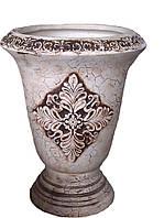"""Большая декоративная ваза для цветов """"Синор"""" Декоративный вазон."""