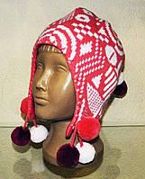 Модные, теплые шапки для девочек на зиму, фото 1