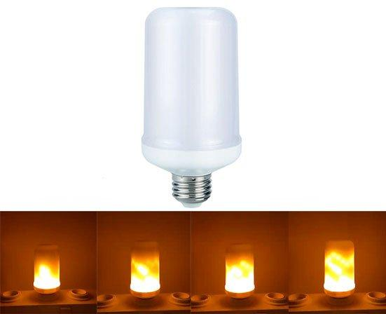 LED лампа с эффектом пламени