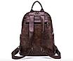 Рюкзак женский кожзам городской Perfect коричневый, фото 4