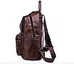 Рюкзак женский кожзам городской Perfect коричневый, фото 5