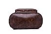 Рюкзак женский кожзам городской Perfect коричневый, фото 6