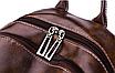 Рюкзак женский кожзам городской Perfect коричневый, фото 7