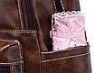 Рюкзак женский кожзам городской Perfect коричневый, фото 9