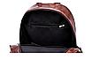Рюкзак женский кожзам городской Perfect коричневый, фото 10