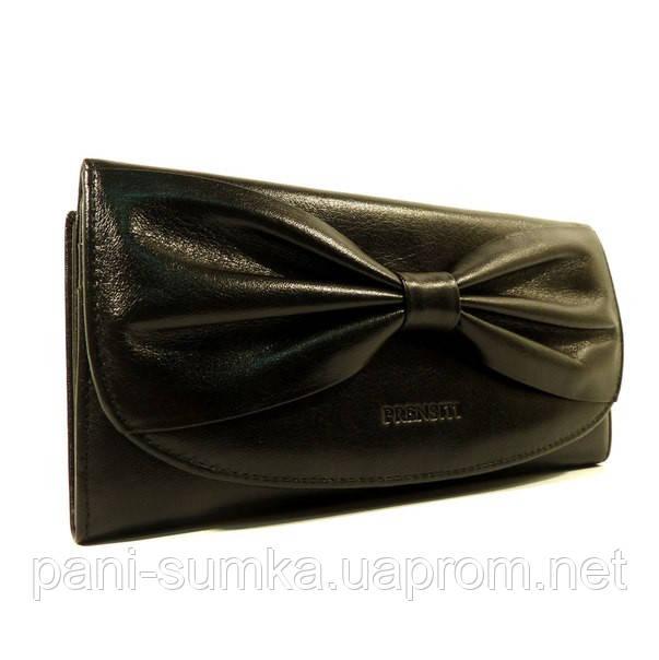 Кожаный кошелек Prensiti 42001 черный, монетница внутри