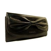 Кожаный кошелек Prensiti 42001 черный, монетница внутри, фото 1