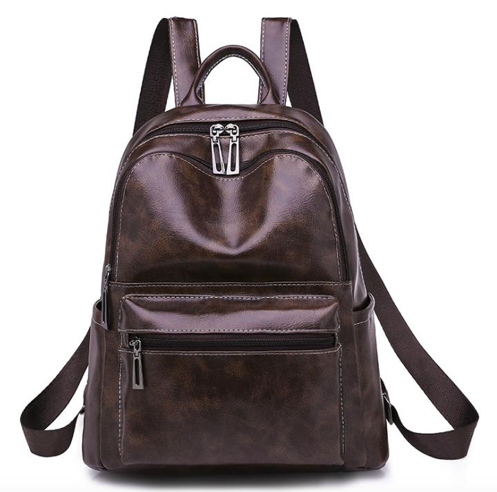 Рюкзак женский кожзам городской Perfect коричневый