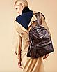 Рюкзак женский кожзам городской Perfect коричневый, фото 3