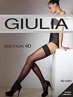"""Шелковистые женские чулки """"Giulia"""" 40 DEN с кружевом"""