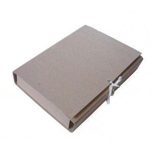 Папка - короб архивная на завязках 80 мм А4 КРАФТ