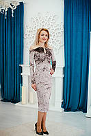 Женское бархатное платье  Poliit 8324, фото 1