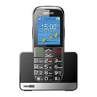 Кнопочный мобильный телефон для пожилых людей с подставкой для зарядки Maxcom MM720