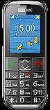 Кнопочный мобильный телефон для пожилых людей с подставкой для зарядки Maxcom MM720, фото 2