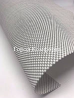Рулонная штора screen бело-серый, фото 1