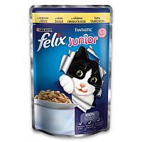 Felix (Феликс) Fantastic Junior - консервы для котят с курицей в желе, 100г