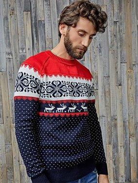 Свитера с оленями - незаменимая теплая вещь и отличный модный подарок