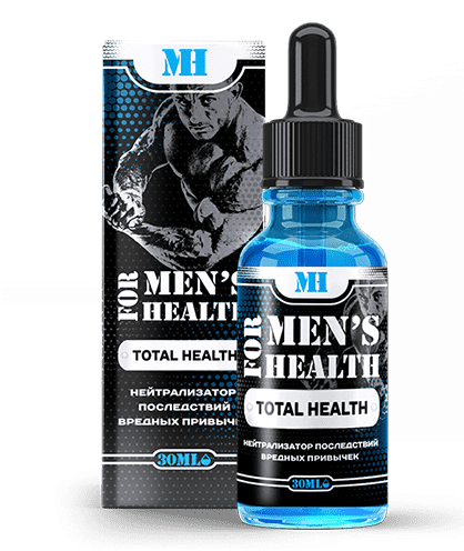 Средство для мужчин For Men's Health против алкоголизма