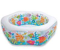 Детский надувной бассейн Океанский риф Intex 56493 (191х178х61 см.)