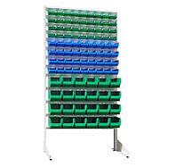 Стеллаж Универсал Н-1800 мм комплект с 36 шт цветных кювет №703, 36 шт - №702, 24 шт - №701, одност.