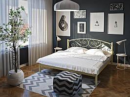 Металлическая двуспальная  кровать Лилия. ТМ Тенеро