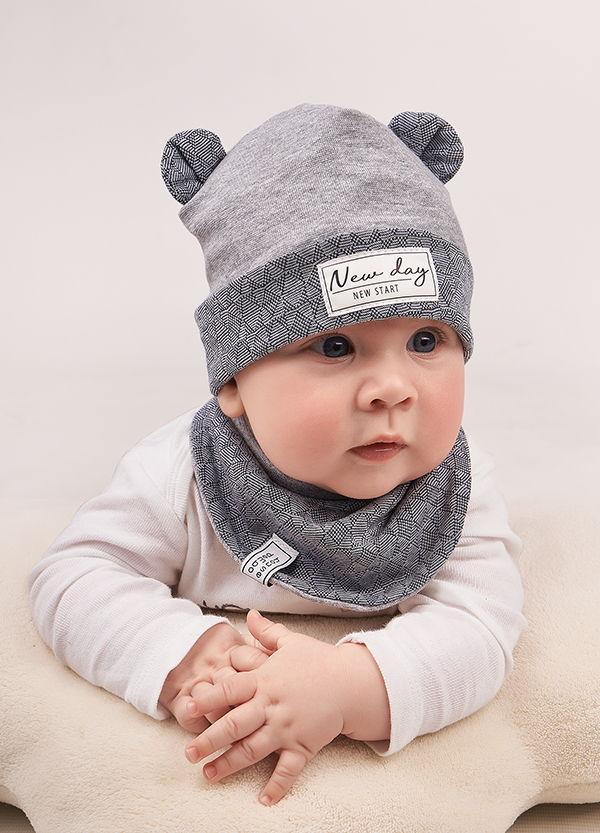 Детская шапка АНДРЕ (набор)для мальчиков оптом размер 42-44-46