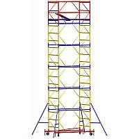 Вышка - тура - ширина 2,0 м, длина 2,0 м, высота настила - 11,4 м, рабочая высота - 13,4 м
