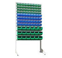 Стеллаж Универсал Н-1800 мм комплект с 36 шт цветных кювет №703, 36 шт №702, 18 шт №701, односторонн
