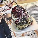 Рюкзак с пайетками меняющий цвет золотой Mojoyce (495\4), фото 2