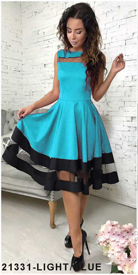 Хит продаж! Элегантное кукольное платье со вставками из сетки  Stefani XS, Light/Blue