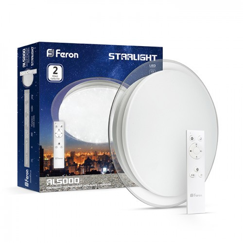 Светодиодный светильник Feron AL5000-S STARLIGHT 60w с пультом 3000К-4200К-6500К