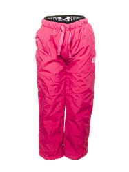 Штаны демисезонные на флисе для девочки, розовые, PIDILIDI BUGGA