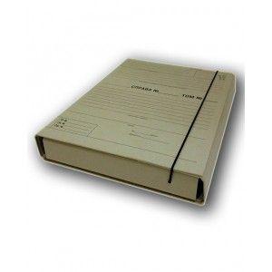 Папка-короб архивная с внутренним клапаном для подшивки документов