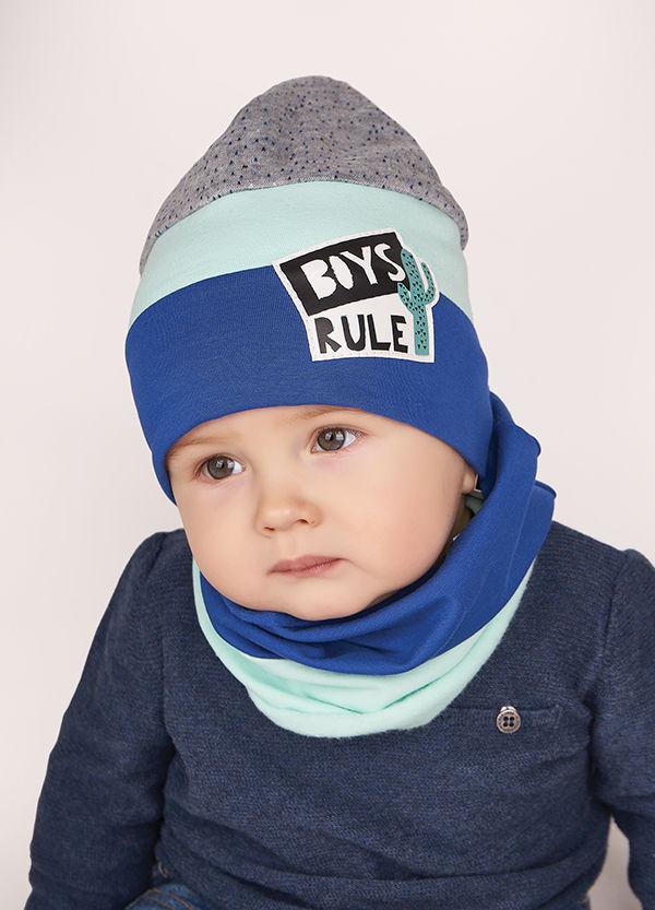 Детская шапка БЛЕЗ (набор) для мальчиков оптом размер 44-46-48
