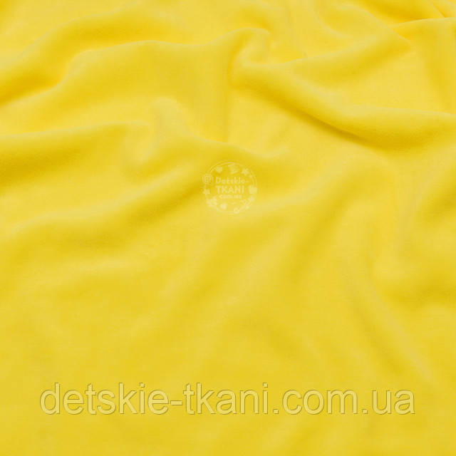 Жёлтое велюровое полотно